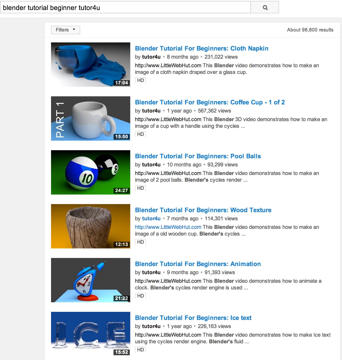 Blender tutorial beginner by tutor4u https//www.youtube