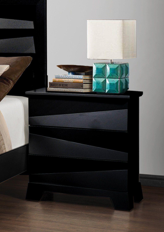 Coaster 203672 Home Furnishings Night Stand Black Take