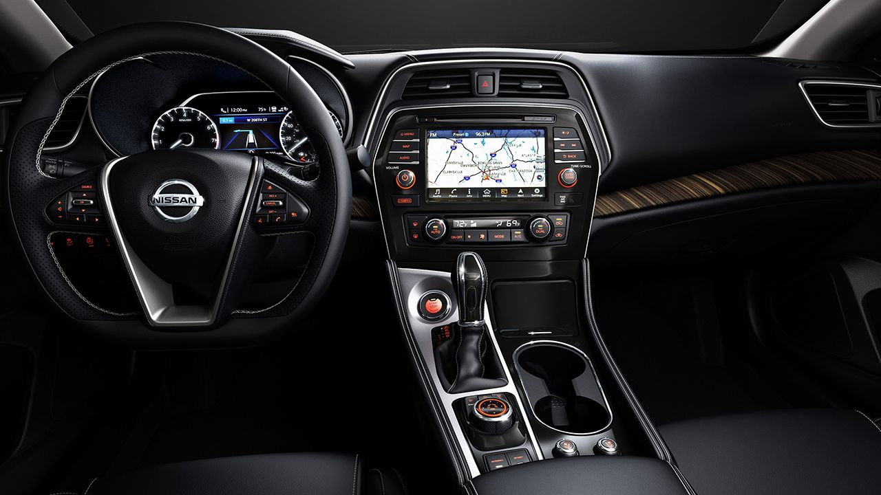2016 Nissan Maxima Platinum Interior Shown In Charcoal Leather