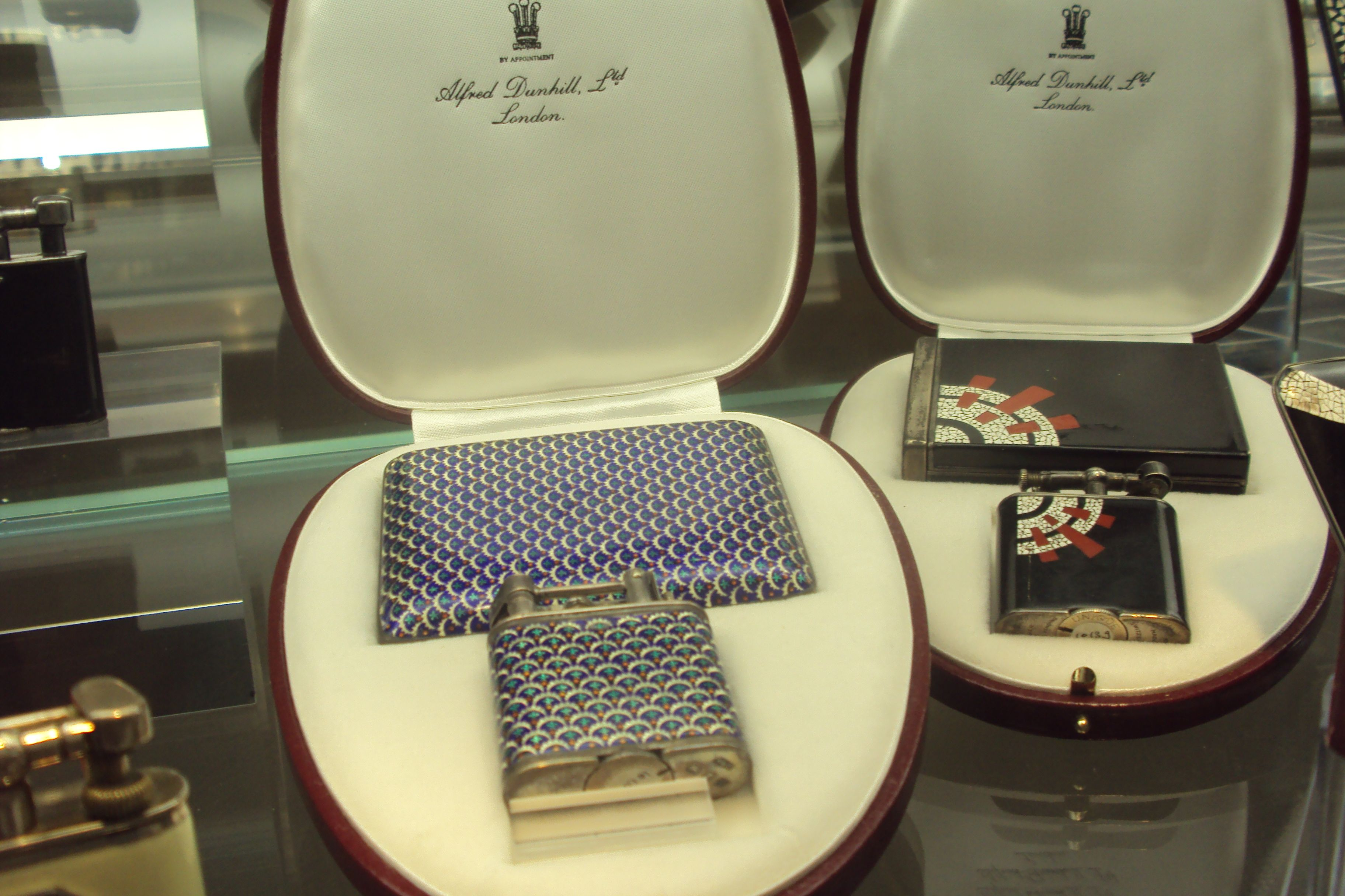 Two wonderful Cigarette case and Dunhill Lighters to match