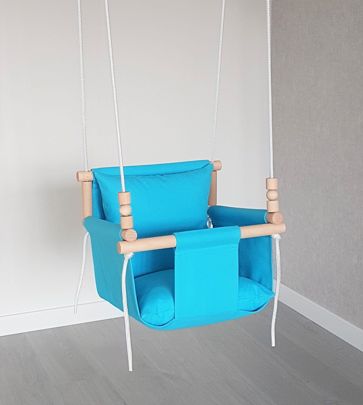 Comfortable Design Turquoise Baby Swing Ships Fast Toddler Swing Natural Swing Cotton Swing Indoor Swing Swing Baby Swing Chair Baby Swing Chair Baby Swings Toddler Swing