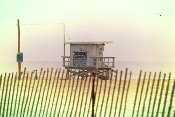 Lifeguard Shack 28 Santa Monica Home Decor Coastal California Photography