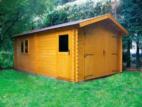 Timberlog cabinsingle garages - 3.35mx5.45m
