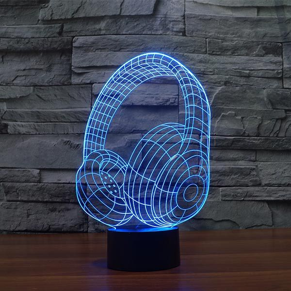 Magical Headset Colorful 3d Led Lamp 3d Led Lamp Led Lamp Mood Lamps