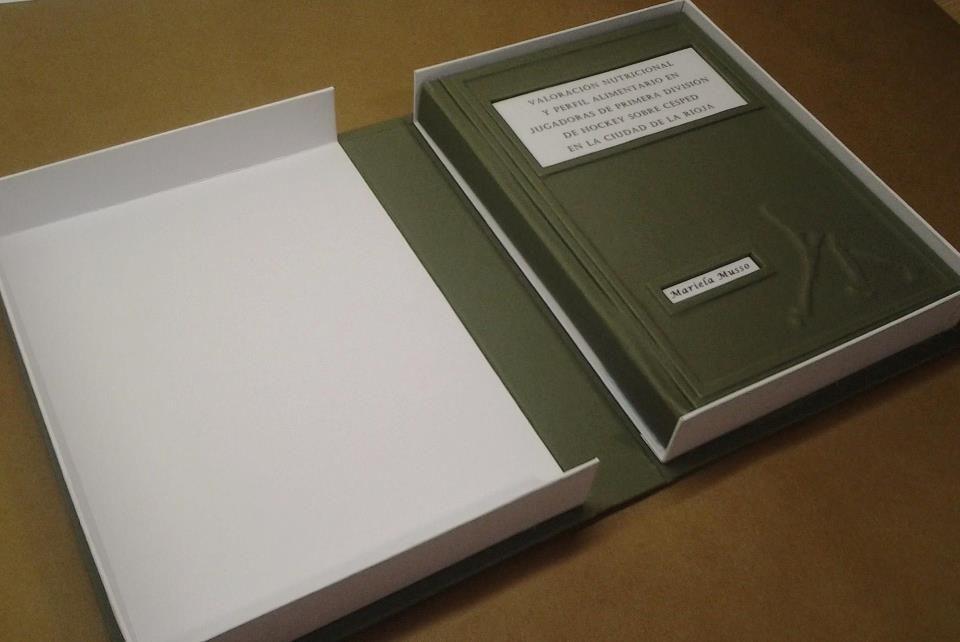 encuadernación con caja almeja Encuadernación