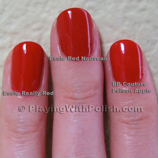 Essie Red Nouveau « Playing With Polish  www.playingwithpolish.com - 600 × 600 - More sizes
