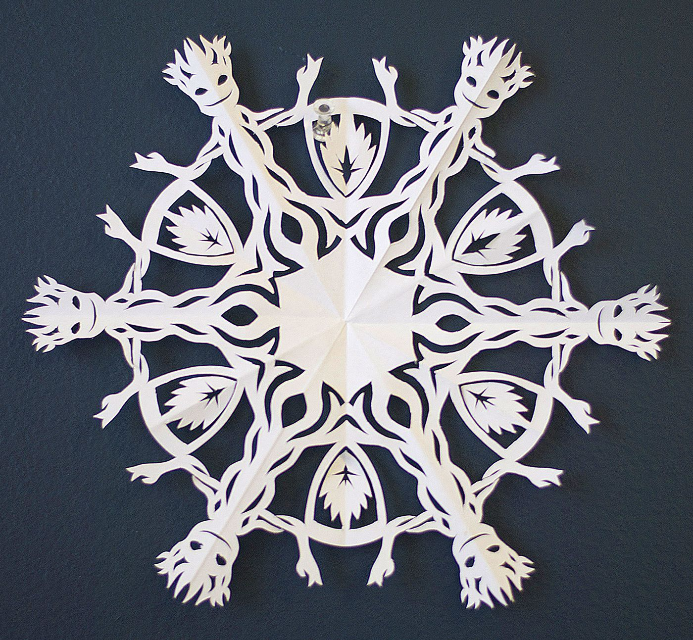 Groot From Guardians Of The Galaxy Paper Snowflake