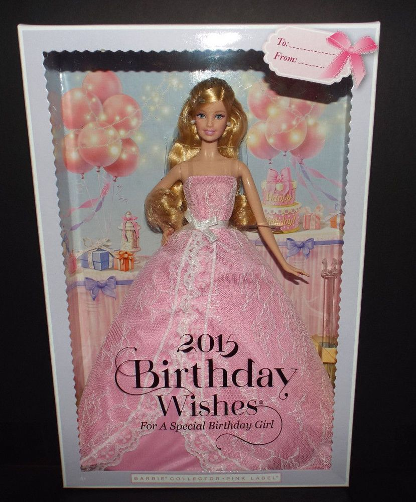 Barbie Pink Label 2015 Birthday Wishes Blonde Doll NEW MIB DollswithClothingAccessories