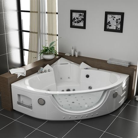 seattle baignoire baln o d 39 angle whirlpool 38 jets seattle. Black Bedroom Furniture Sets. Home Design Ideas