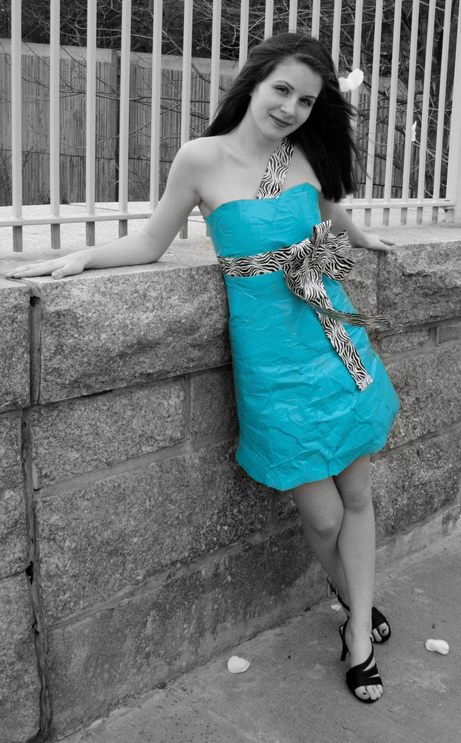 For a simple duct tape dress like this your best bet is to buy a ...