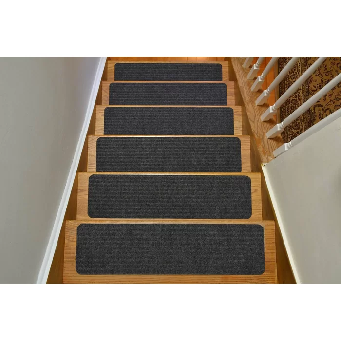 Orean Skid Slip Resistant Stair Tread Carpet Stairs Carpet | Wayfair Carpet Runners For Stairs | Tucker Murphy | Brown Beige | Hallway Carpet | Wool Rug | Wall Carpet