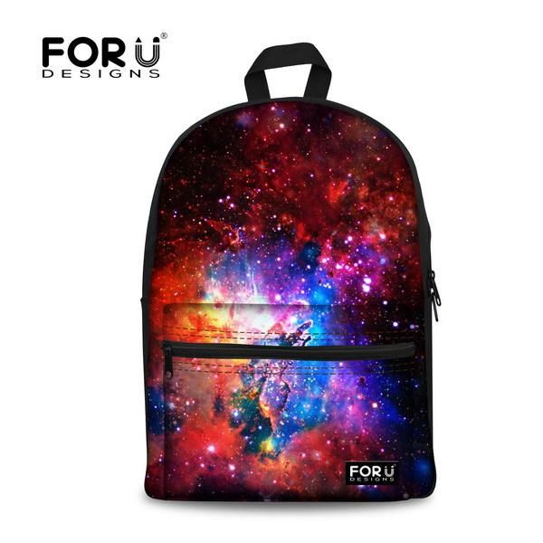 c1c686a8e48 FORUDESIGN Brand 3D Galaxy Space Print School Backpack For Girls Teenager  Backpack Kids Casual Children Women Travel Rucksack