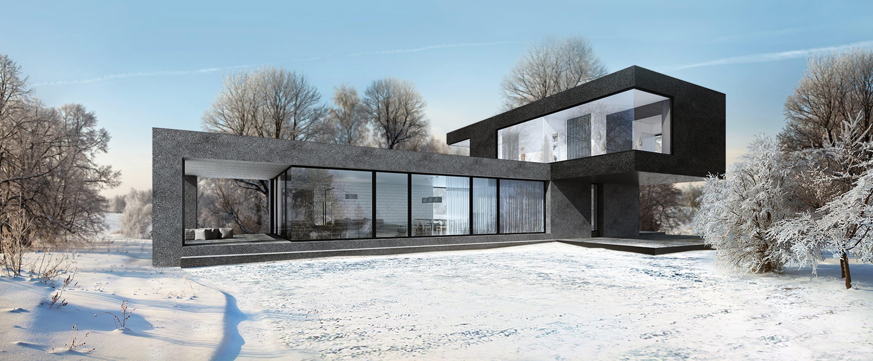 Casas minimalistas de alexander zhidkov architect