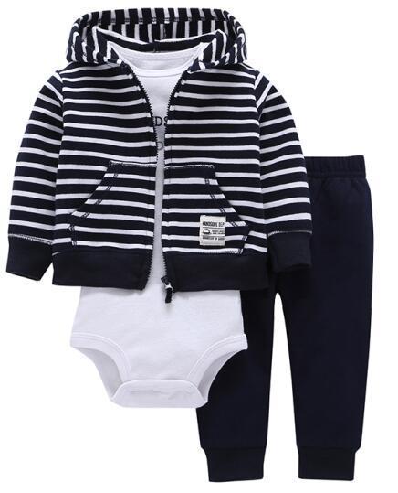 6a46847a5 Newborn Clothes 2018 Autumn Winter Baby Boys Clothes Set Coat+Bodysuit+Pants  3pcs Babydresskily