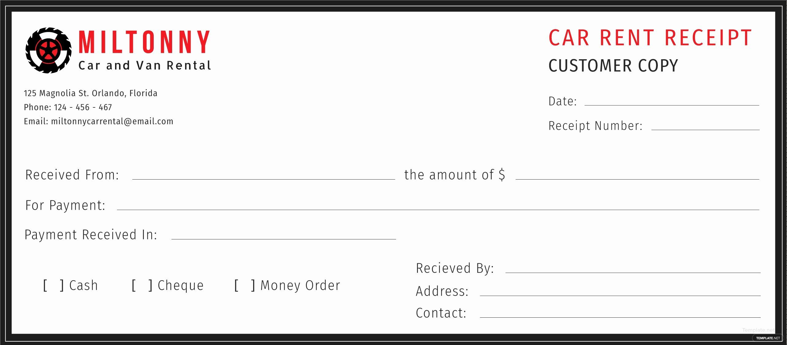 Car Rental Receipt Template Fresh Free Car Rent Receipt Template In Adobe Illustrator Receipt Template Free Receipt Template Coupon Template
