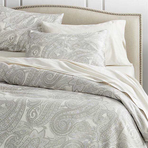 Mariella Cream Grey Duvet Covers And Pillow Shams Gray Duvet Cover Grey Duvet Bed Linens Luxury