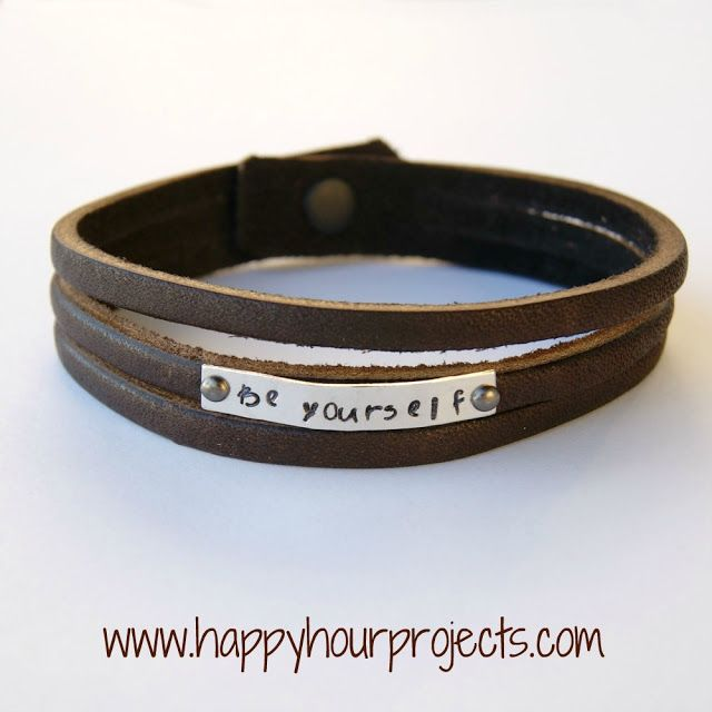 Stamped Leather Cuff