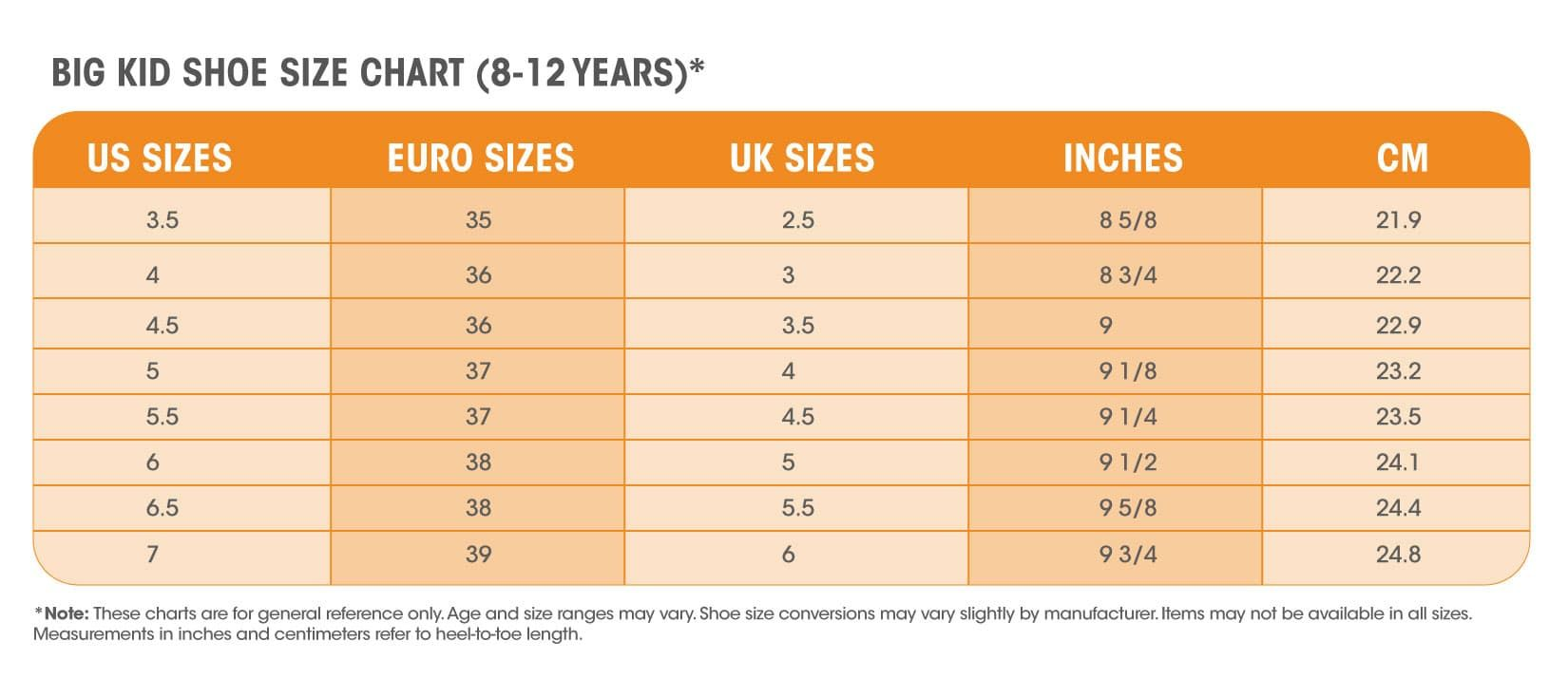 Women S Shoe Size In Inches.How To Find The Youth Equivalent Of Women S Shoe Sizes