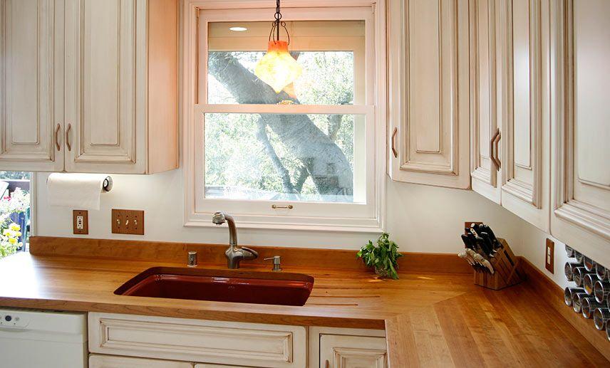 Custom American Cherry Wood Countertop In Oakland California