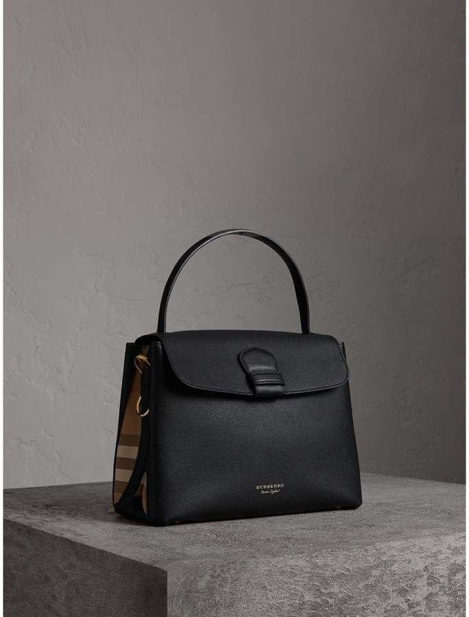 9e080768ebb8 Burberry Medium Grainy Leather and House Check Tote Bag  Burberryhandbags
