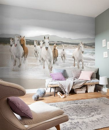 Look at this #zulilyfind! White Horses Mural #zulilyfinds