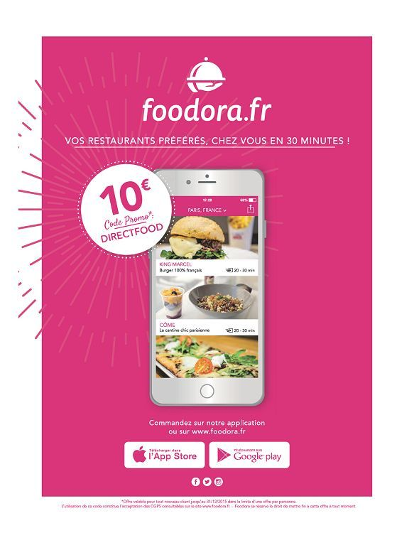 Foodora Europe Free Credit Flyer Flyer Flyer Design Design Inspo