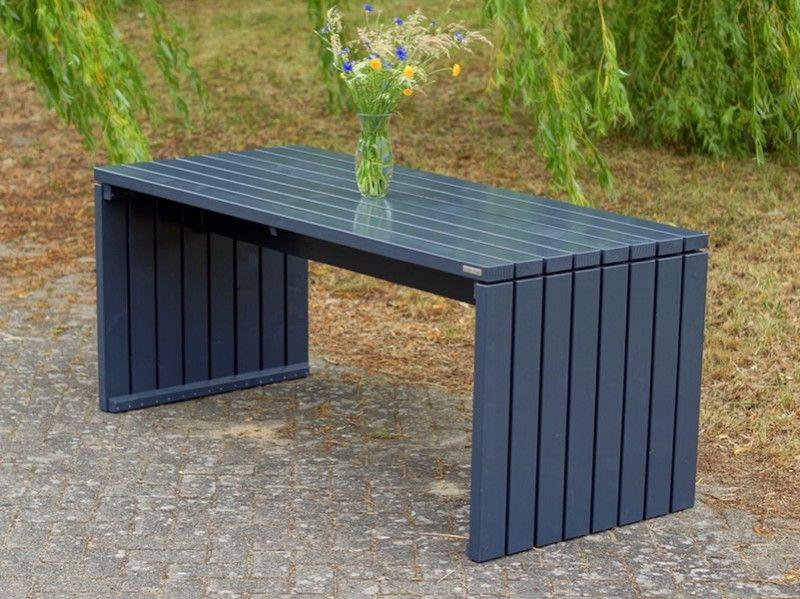 Gartentisch Holz 1 Anthrazit Grau Wetterfestes Holz Douglasie