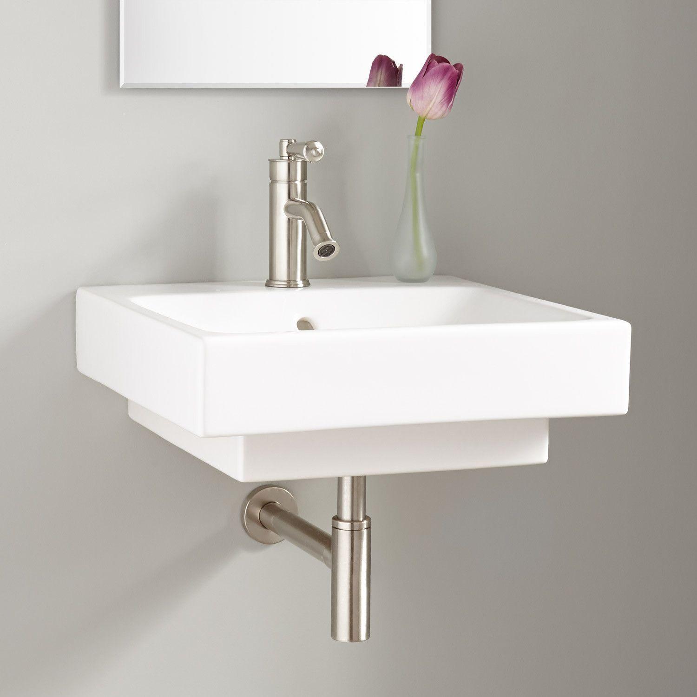 19 Stoddert Porcelain Wall Mount Sink Bathroom Sinks Bathroom Wall Mounted Sink Wall Mounted Bathroom Sinks Sink