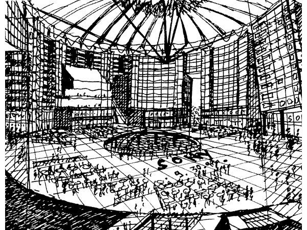 Helmut Jahn Sony Center Berlin Architecture Drawing Elevation Drawing Eiffel Tower