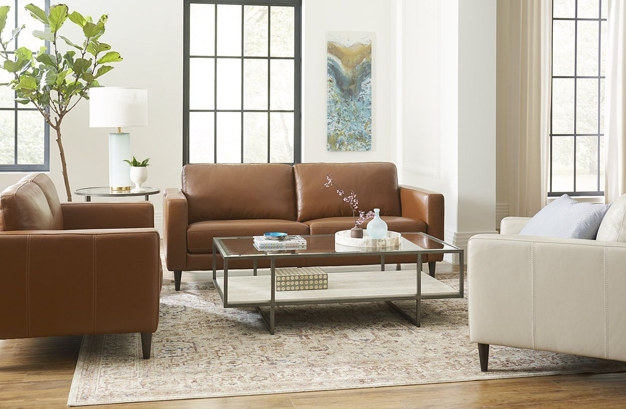 Furniture Jennis Leather Sofa Collection Created For Macy S Reviews Furniture Macy S Tan Leather Sofa Living Room Leather Sofa Living Room Leather Couches Living Room