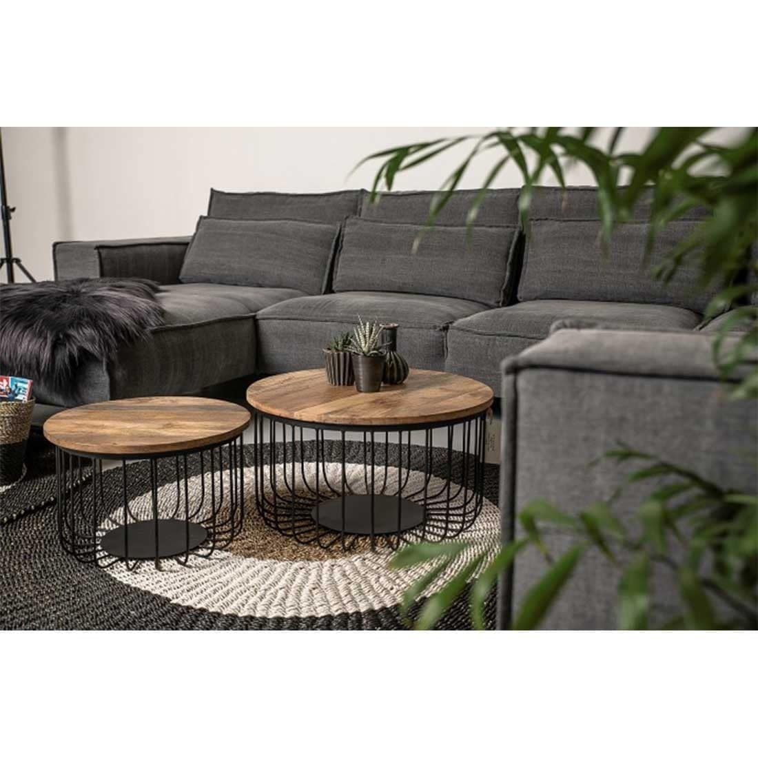 Photo of HSM Collection Coffee Table Set Maggot 2 pcs.