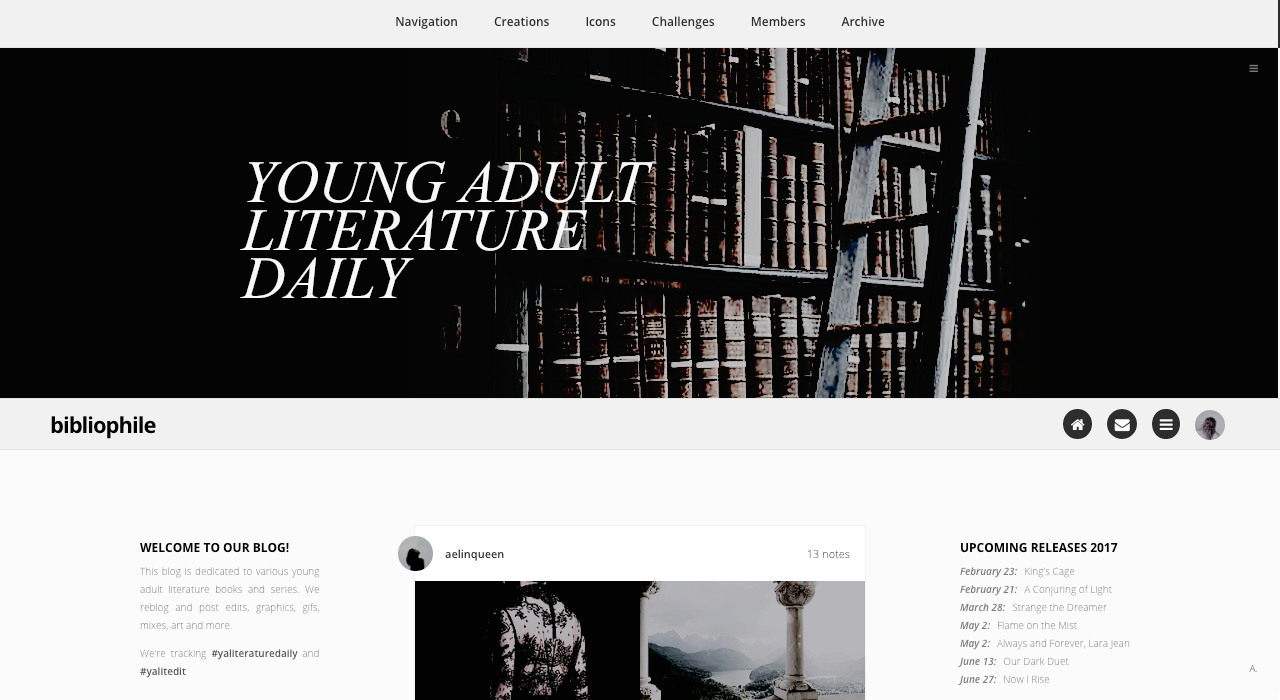 Bibliophile Fansite Blog Theme Updated Two Sidebars