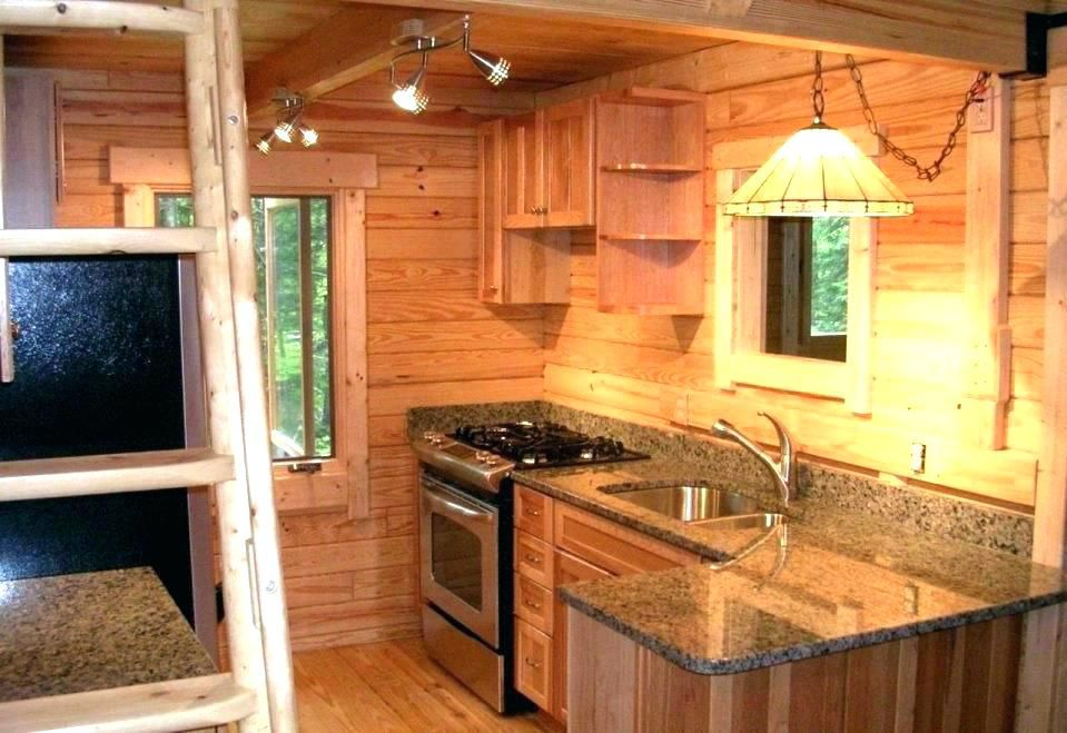Image Result For Tiny Kitchens Small Cabin Kitchens Log Cabin