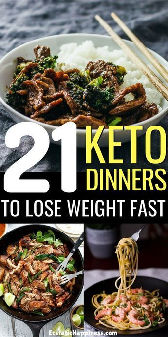 21 Easy Keto Dinner Recipes to Lose Weight #nocarbdiets
