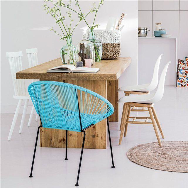 Chaise à coque plastique (lot de 2), Jimi   Salon / S.à.manger ...