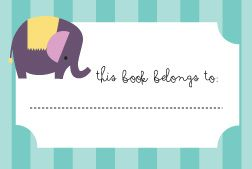 Here is a great printable to label your books at home so that they don't get lost. Happy organising!