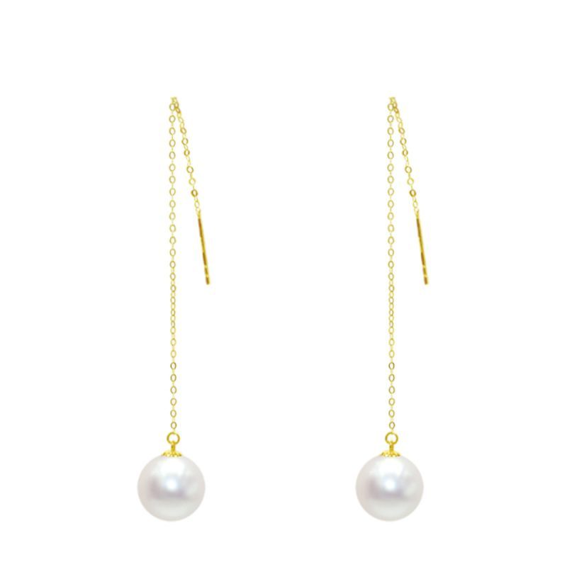 Women Handmade Freshwater Pearls Drop Earring Genuine Leather Dangle Jewelry for girls Wholesale Fashion Hook Earrings