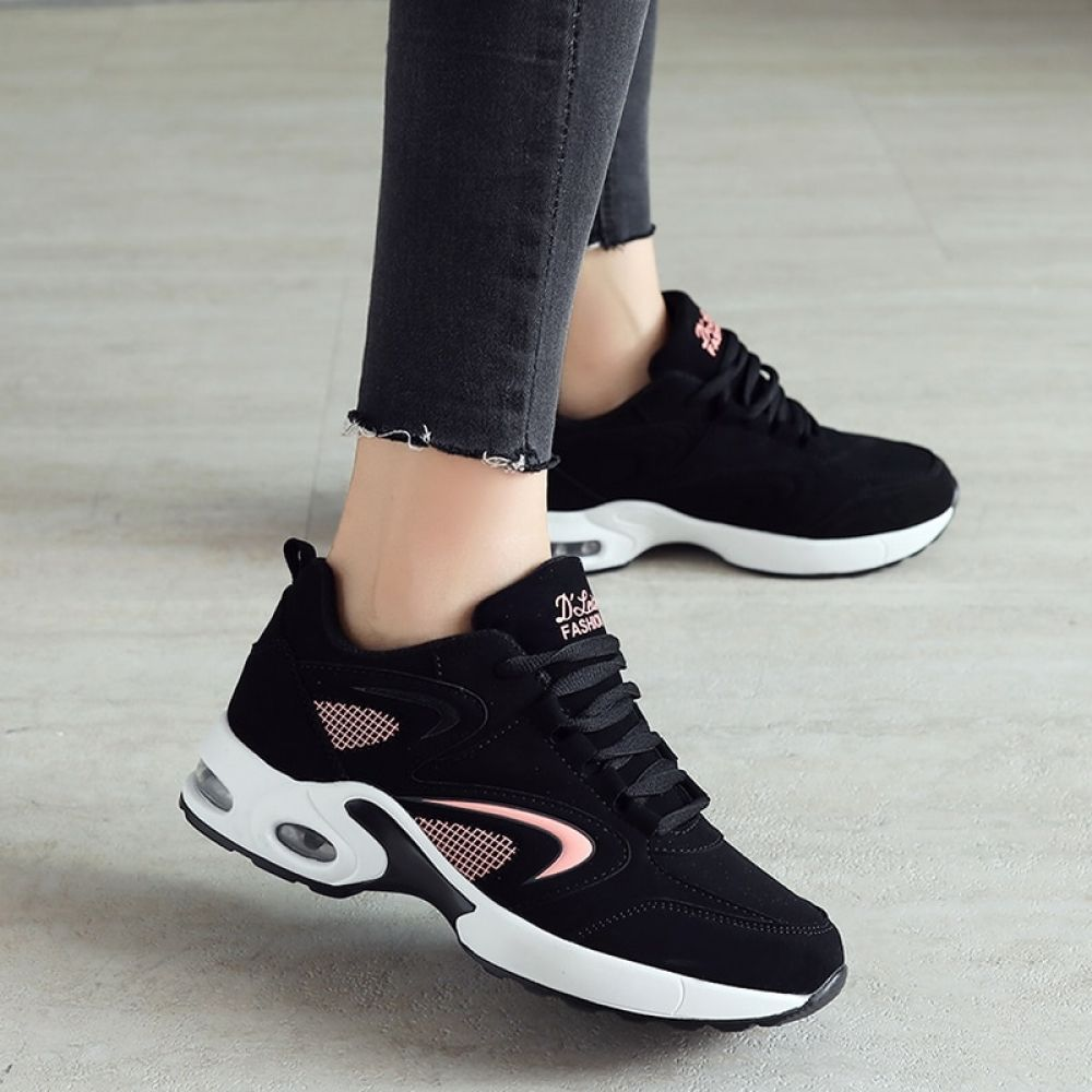 Lace-Up Sneakers Women Lady Outdoor Running Gym Walking Sport Casual Flat Shoes