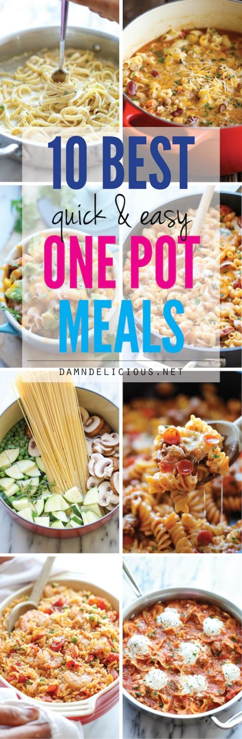 10 Quick and Easy One Pot Meals