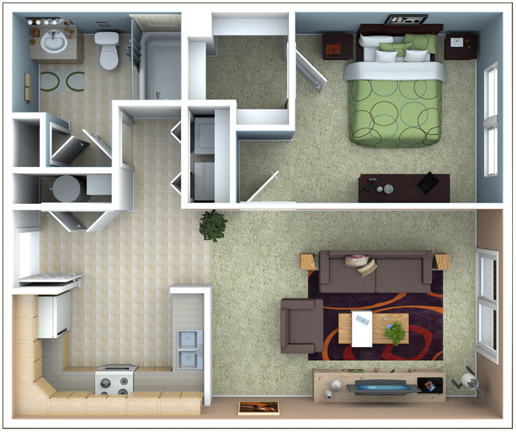 1 Bedroom Basement Apartment Floor Plans Charming