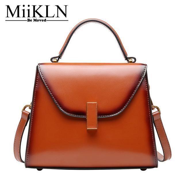 MiiKLN Ladies Small Leather Bags Solid Red Black Green Split Cow Leather  Flap Women Bag Handbag Soft Crossbody Mini Bags cdf47acff6495