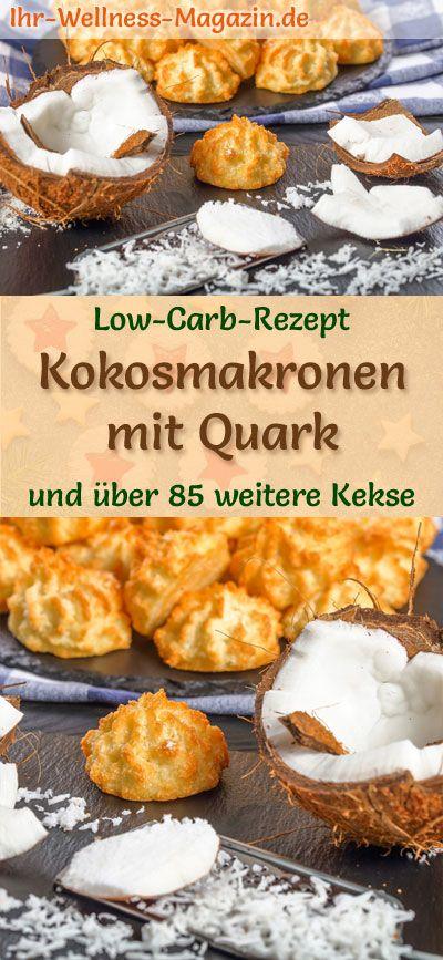 Low Carb Kokosmakronen mit Quark - einfaches Plätzchen-Rezept für Weihnachtskekse #kokosmakronenrezept