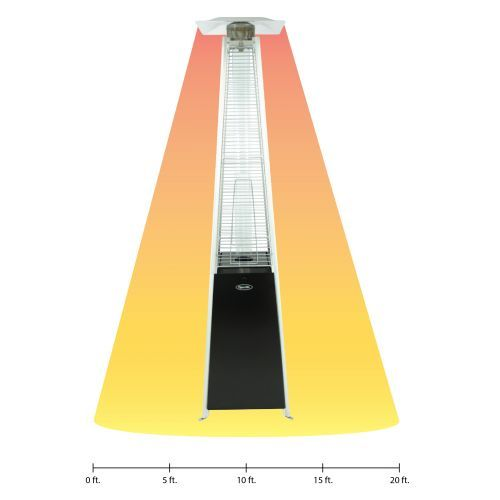 Dyna Glo Black Pyramid Flame Patio Heater Features Variable Heat Settings  To Warm Up To