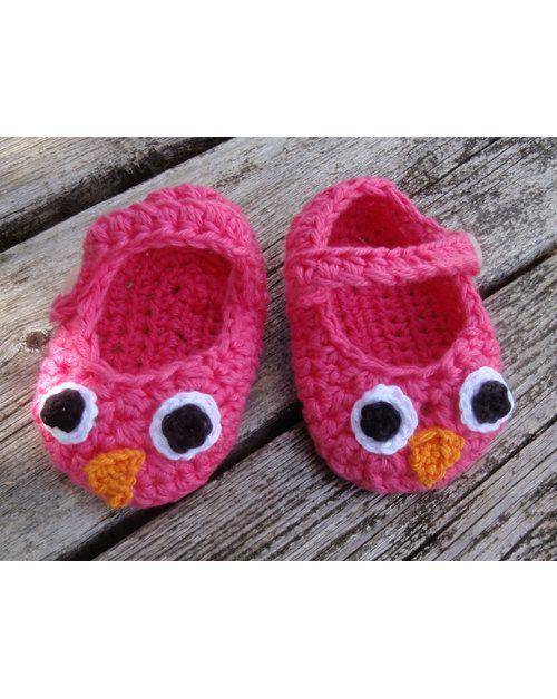 PDF Crochet pattern Baby owl booties | Eule und Häkeln