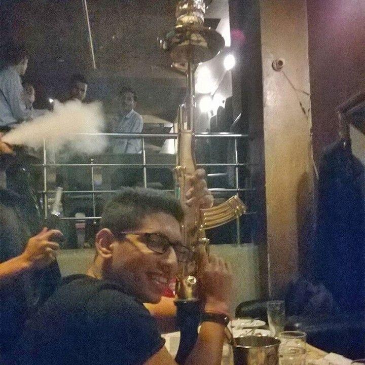 AK 47 the boss   sab dhuan dhuan hai bawa #hookah #party #friends