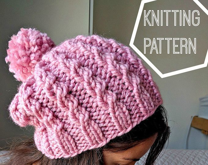 Easy Cable Knit Hat Pattern Cable Knit Beanie Pattern Simple Cable