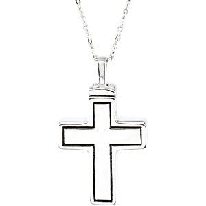 Memorial Ash Keepsake VALYRIA Cremation Jewelry Gold Stainless Steel Mayfair Cross Urn Pendant Necklace