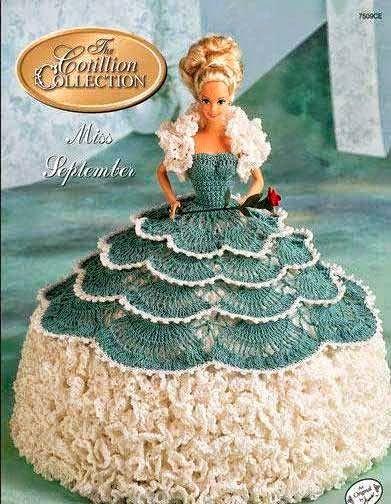 Patrones de vestidos crochet para Barbie | Todo crochet | tejido ...