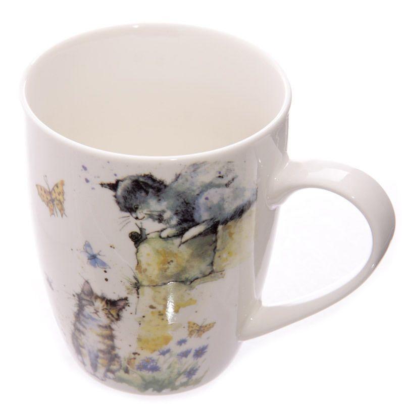Jan pashley cat kitten single bone china mug gift box