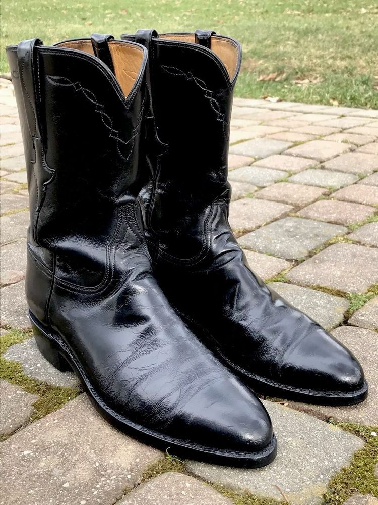 1a599c4d3f8 LUCCHESE Classics Men s Black Leather Cowboy Boots Shoes Size 10 D Made In  USA   35.00 End Date  Monday Dec-31-2018 17 12 36 PST Buy It Now…